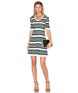 Missoni | 3/4 Sleeve Zig Zag Dress M