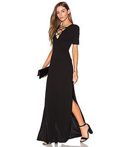 Lucca Couture | Макси Платье На Шнуровке С Высоким Вырезом