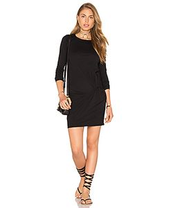 Bobi | Supreme Jersey Long Sleeve Knot Mini Dress