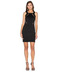 Bobi | Black Double Knit Sleeveless Bodycon Mini Dress