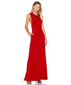 JILL JILL STUART | Sleeveless Ruffle Gown