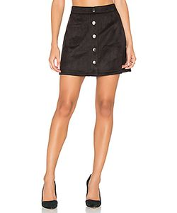 Bishop + Young | Suede Button Down Mini Skirt