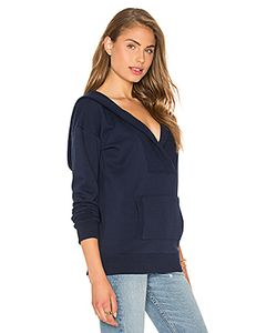 Bobi | Cozy French Terry Long Sleeve V Neck Sweatshirt