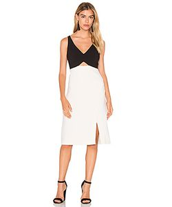 Halston Heritage | V Neck Colorblock Sleeveless Dress