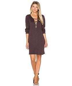 Lanston | Lace Up Sweatshirt Dress