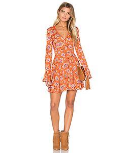 J.O.A. | Long Sleeve V Neck Floral Dress