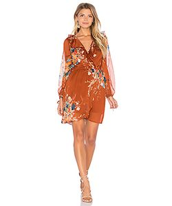 Band of Gypsies | Bouqet Floral Surplice Wrap Dress