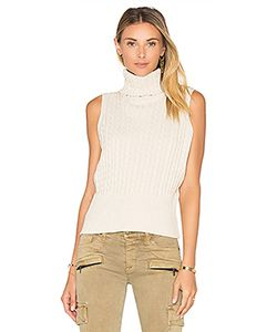 525 America | Cable Rib Sleeveless Crop Sweater