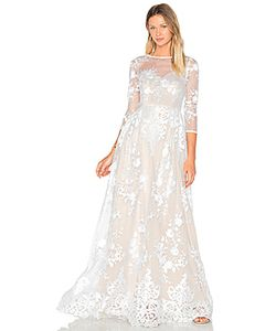 Lurelly | Sheer Embroidered Gown