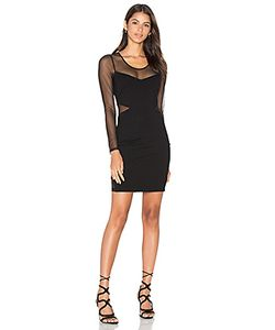 Bobi | Black Double Knit Long Sleeve Bodycon Dress