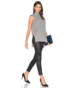 Michael Stars | Sleeveless Mock Neck Cabled Tunic