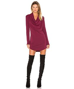 Bobi | Jersey Long Sleeve Cowl Neck Bodycon Dress