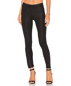 Heather | Coated Skinny Ankle Zip Pant