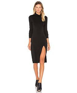 Bobi | Jersey Long Sleeve Turtleneck Mini Dress