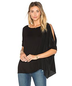 Heather | Asymmetric Silk Boxy Top