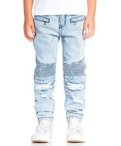 Haus of JR | Clayton Distressed Biker Denim