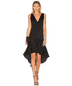 Milly | Deep V Flounce Dress
