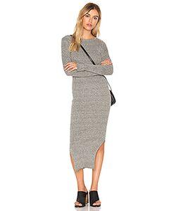 J.O.A. | Long Sleeve Crew Neck Midi Dress