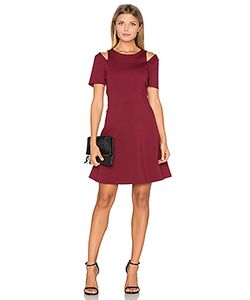 1. STATE | Cut Out Shoulder Fit Flare Dress