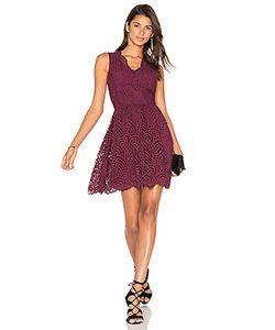 Bobi | Black Lace Crochet Overlay Fit Flare Sleeveless Dress