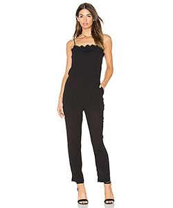 Greylin | Alina Lace Trimmed Jumpsuit