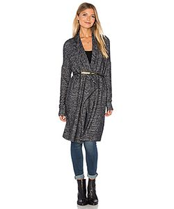 Velvet by Graham & Spencer | Dejavu Long Sleeve Front Draped Cardigan Velvet By Graham
