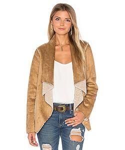Velvet by Graham & Spencer | Zariah Drape Front Faux Fur Jacket Velvet By Graham