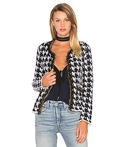 ANIMALE | Houndstooth Chain Sweater Jacket