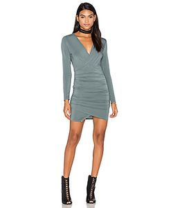 krisa | Asymmetrical Surplice Mini Dress