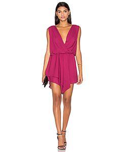 krisa | Asymmetrical Surplice Mini Dress