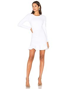 Donna Mizani | Long Sleeve Ruffle Dress