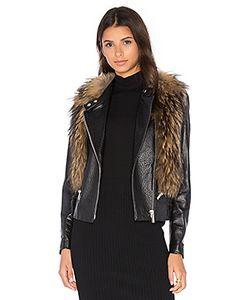 NOUR HAMMOUR | Flashing Lights Jacket With Raccoon Fur