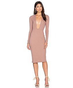 NYTT | Long Sleeve Plunge Dress