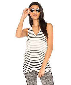 Beyond Yoga | Bring It Ombre Striped Racer Tank