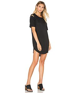 David Lerner | Lace Up T Shirt Dress