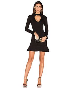 Nicholas | Long Sleeve Diamond Cut Out Ponti Dress