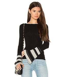 Autumn Cashmere | Ribbed Pleat Cuff Sweater