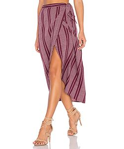 Band of Gypsies | Pin Stripe High Low Midi Skirt