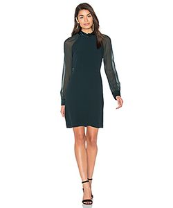 IKKS Paris | Sheer Long Sleeve Shift Dress