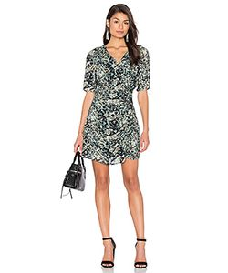 IKKS Paris | Long Sleeve Jungle Print Wrap Dress