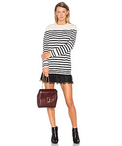 Red Valentino | Striped Sweater Dress