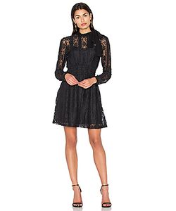 Red Valentino | Tie Neck Lace Dress