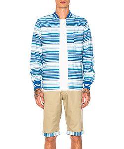 Clot   Ribbed Zip Up Shirt