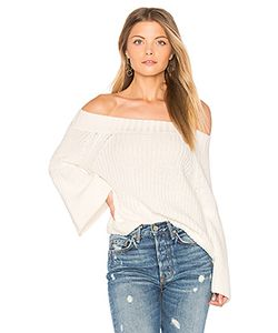 525 America | Off Shoulder Tulip Sweater