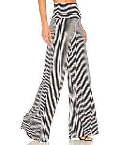 Norma Kamali | Vertical Stripe Elephant Pant