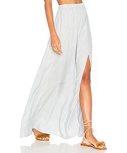 Clayton | Stripe Twill Jen Slit Skirt
