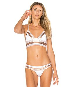 Beach Bunny | Tequila Sunrise Long Line Bralette Bikini Top