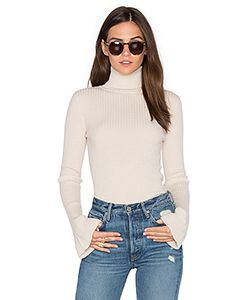 Autumn Cashmere | X Revolve Ribbed Turtleneck Bell Sleeve Sweater
