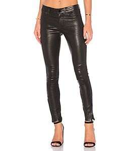 J Brand | Mid Rise Leather Skinny