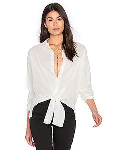 YORK street | Рубашка На Пуговицах С Завязкой Спереди
